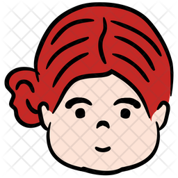 Woman Colored Outline Icon