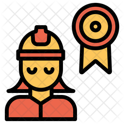 Woman Engineering Ribbon Icon Of Colored Outline Style Available In Svg Png Eps Ai Icon Fonts