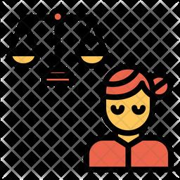 Woman Judgement Icon