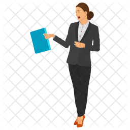 Woman Office Worker Icon Of Flat Style Available In Svg Png Eps Ai Icon Fonts