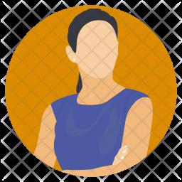 Woman Posing Icon