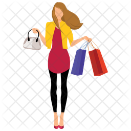 Woman Shopping Icon Of Flat Style Available In Svg Png Eps Ai Icon Fonts