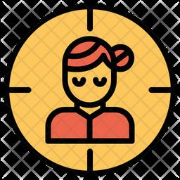 Woman Target Icon