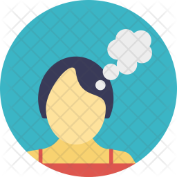 Woman Thinking Icon Of Flat Style Available In Svg Png Eps Ai Icon Fonts
