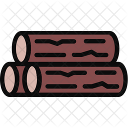 Wood Colored Outline Icon