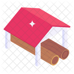 Wood Logs shed Icon