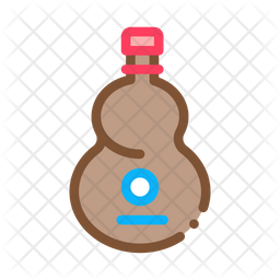 Wooden Bottle Icon Of Colored Outline Style Available In Svg Png Eps Ai Icon Fonts
