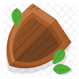 Wooden Shield Icon