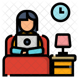 Work in the bedroom Icon