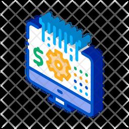 Work On Laptop Isometric Icon