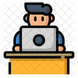 Work on the desk Icon