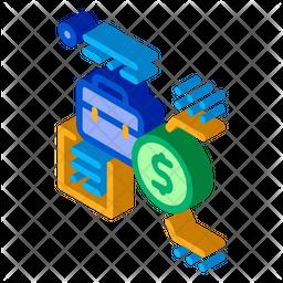 Work Salary Isometric Icon