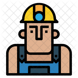 Worker Colored Outline Icon