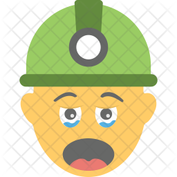 Worker Crying Icon