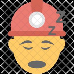 Worker Sleeping Icon
