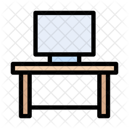 Working Table Icon Of Colored Outline Style Available In Svg Png Eps Ai Icon Fonts