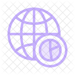World Colored Outline Icon