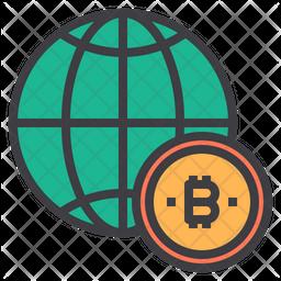 World bitcoin Icon