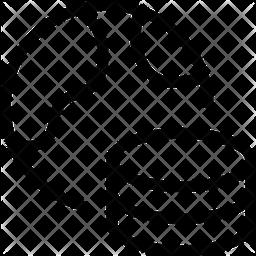 World Database Line Icon