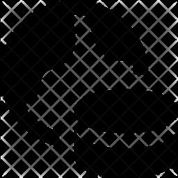 World Database Glyph Icon