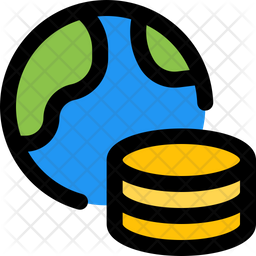 World Database Colored Outline Icon