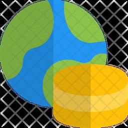 World Database Gradient Icon