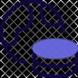 World Database Dualtone Icon