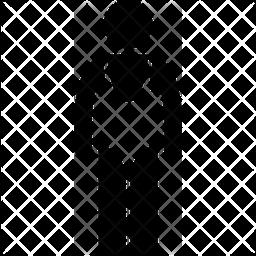 Wrestler Glyph Icon