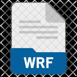 Wrf file Flat Icon