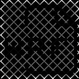 Wrf File Line Icon