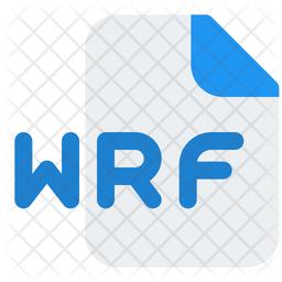 Wrf File Gradient Icon