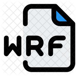Wrf File Colored Outline Icon