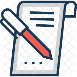 Writing Colored Outline Icon