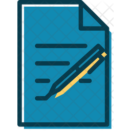 Writing Documents Colored Outline Icon