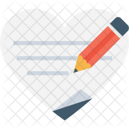 Writing love letter Icon