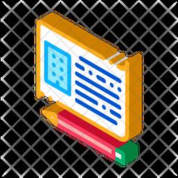 Written Building Information Icon