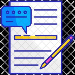 Written language Icon