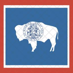 Wyoming Flag Icon