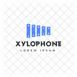Xylophone Logo Colored Outline Icon