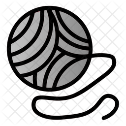 Yarn Ball Colored Outline Icon