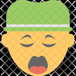 Yawn Face Icon