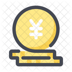 Yen Icon Of Colored Outline Style Available In Svg Png Eps Ai Icon Fonts
