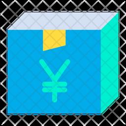 Yen Box Flat Icon