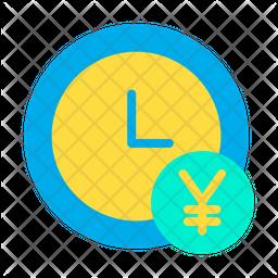 Yen Clock Icon