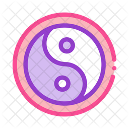 Yin Colored Outline Icon