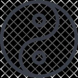 Yin-Yang Line Icon