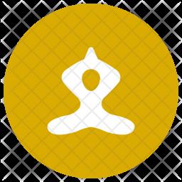 Yoga Glyph Icon