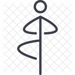 Yoga Line Icon