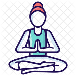Yoga Icon Of Colored Outline Style Available In Svg Png Eps Ai Icon Fonts