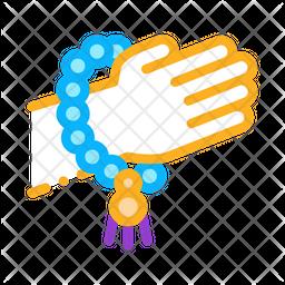 Yoga Bracelet Colored Outline Icon